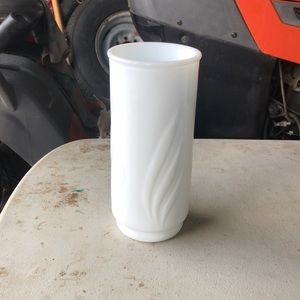 Vi tags milk glass vase